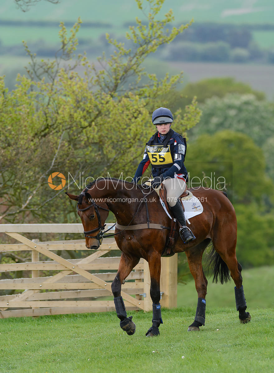 Constance Copestake and DENVER VI - Brigstock International Horse Trials, Rockingham Castle 2014