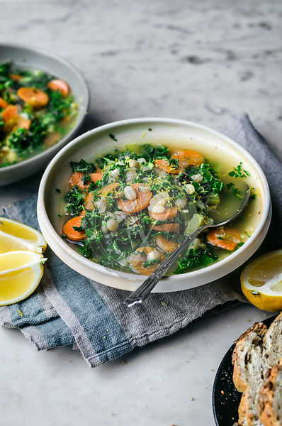 White Bean, Lemon, and Kale Soup