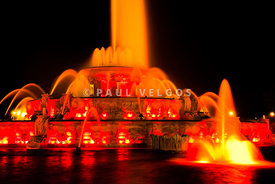 Buckingham Fountain at Night in Chicago