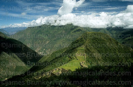 Aerial view of Inca site of Choquequirao and Apurimac Canyon, Peru