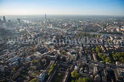 Aerial view of High Holborn, London