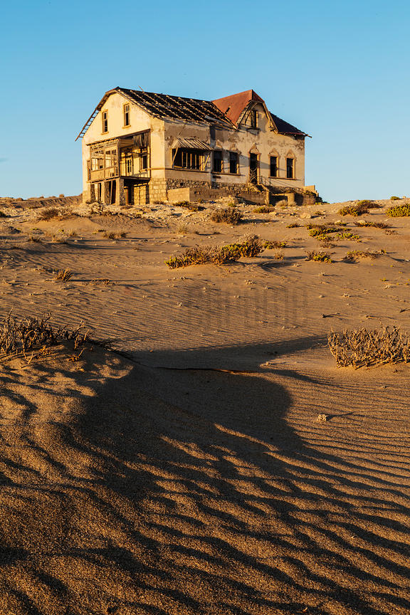Abandoned Housed in the Namib Desert at Dawn