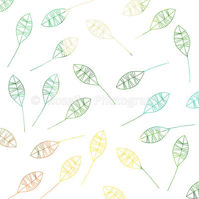 hand painted petals  - digital gift paper