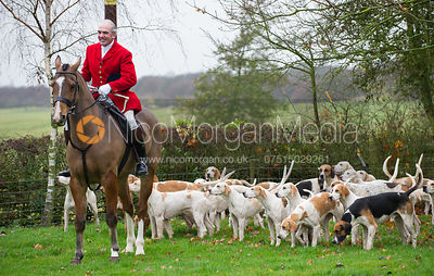 Huntsman Andrew Osborne MFH at the meet - The Cottesmore at John O'Gaunt 24/11/12
