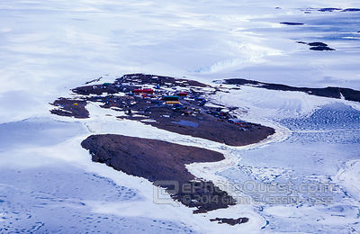 Aerial View Mawson Station