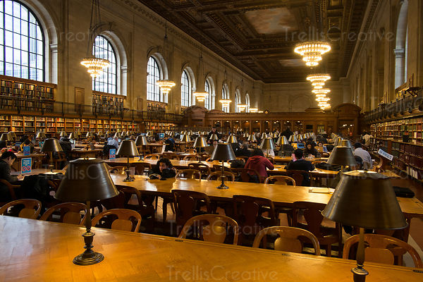 New York Public Library main reading room