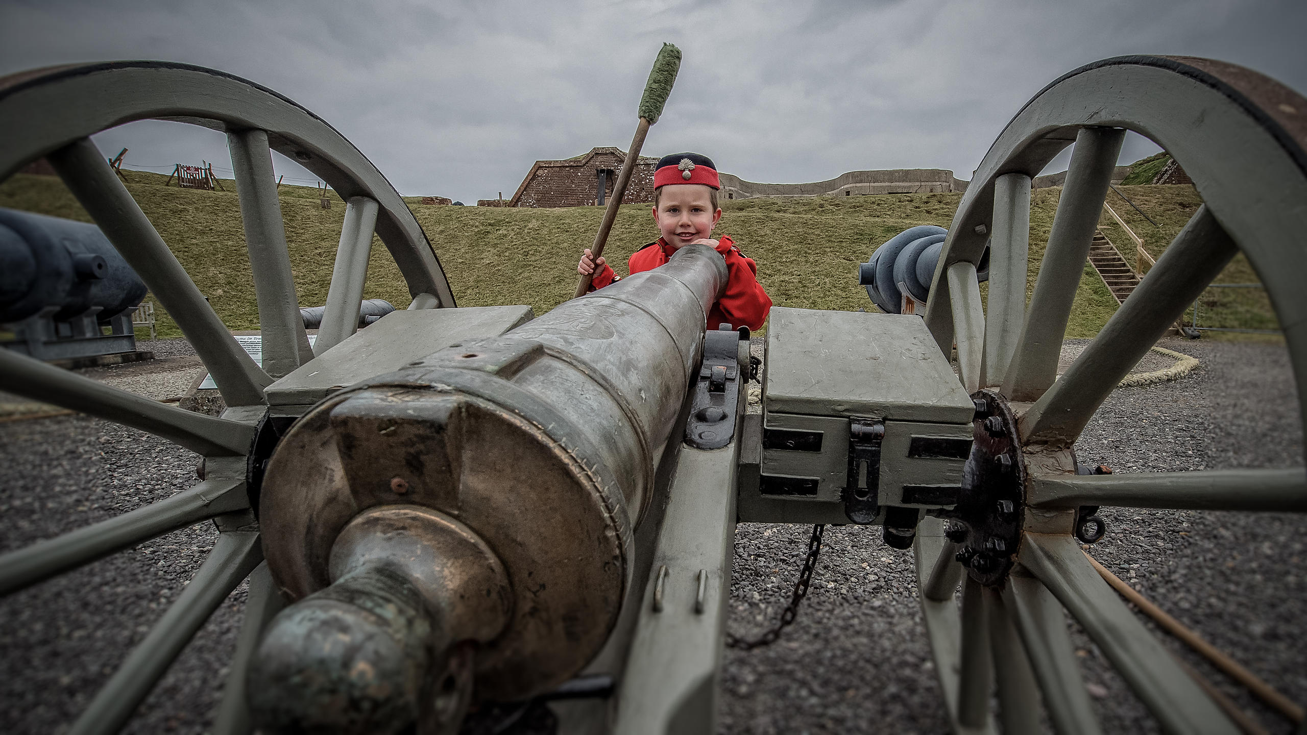 Visitors Enjoying Fort Nelson on Portsdown hill