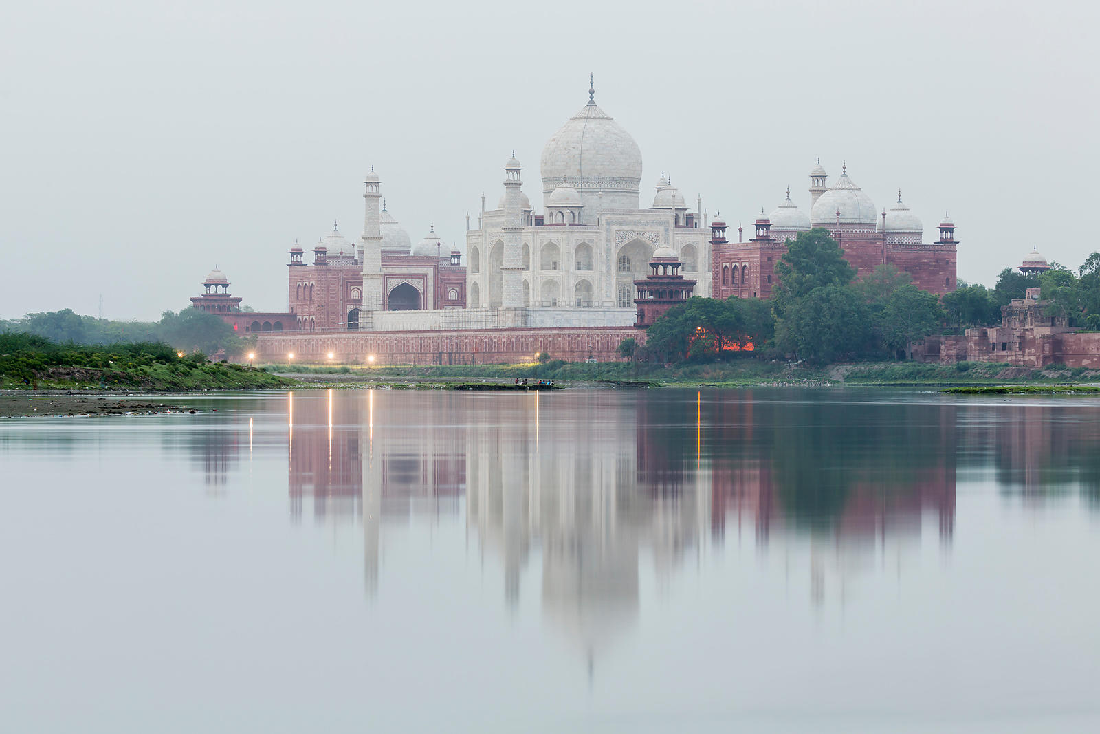 The Taj Mahal Reflected in the Yamuna at Dawn