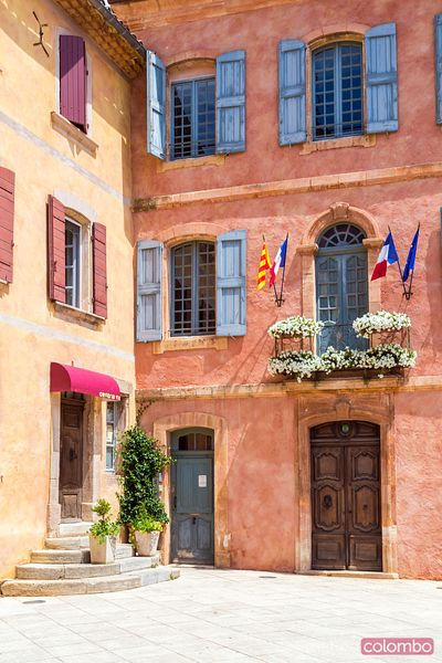Exterior of the Hotel de Ville, Roussillon, Provence, France