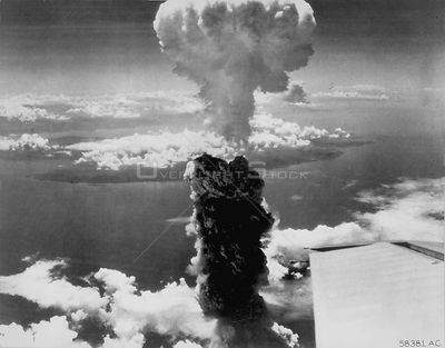 JAPAN Nagasaki -- 09 Aug 1945 -- Out with a bang...One of the first atomic bomb detonations in Nagasaki at the end of World W...
