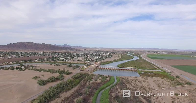 Morelos Dam Drone Video Yuma County Arizona US Mexico Border