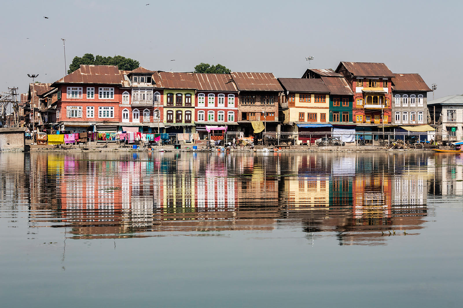 Houses & Shops on Dal Lake