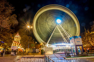 The Big Wheel spinning at Oslo's Winter Wonderland