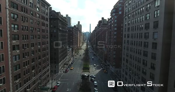 Tracking south aerial above Park Ave at 70th st…Massive buildings tower above us on each side.