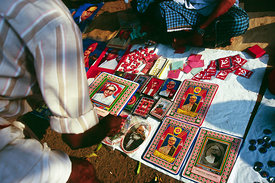 India - Kerala - A stall selling Communist Party paraphenalia