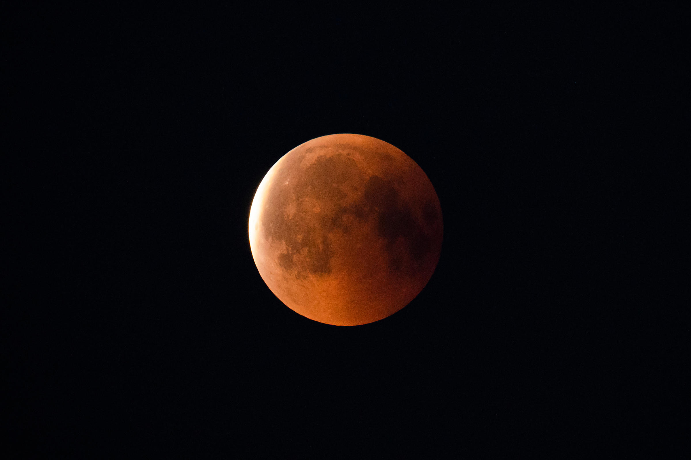 Lunar eclipse on July 27 2018.