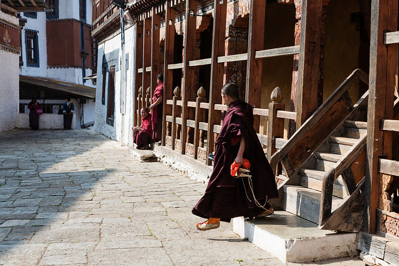 Monks at the Trongsa Dzong