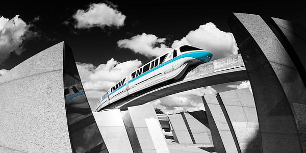 Blue Monorail and EPCOT Monoliths