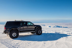 Super Jeep on top of Eyjafjallajökull