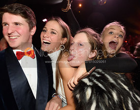 Tom Abel Smith, Isobel McEuen, Hermione Brooksbank, Elly Broughton. The Quorn Hunt Ball