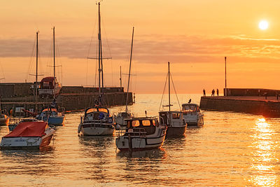 Aberaeron harbour, sunset