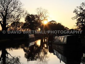 Sunset Over The Shropshire Union Canal