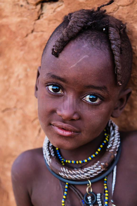 Portrait of a Young Himba Girl