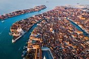 Aerial view of Venice, Italy