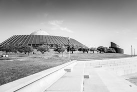 Chicago Adler Planetarium Black and White Picture