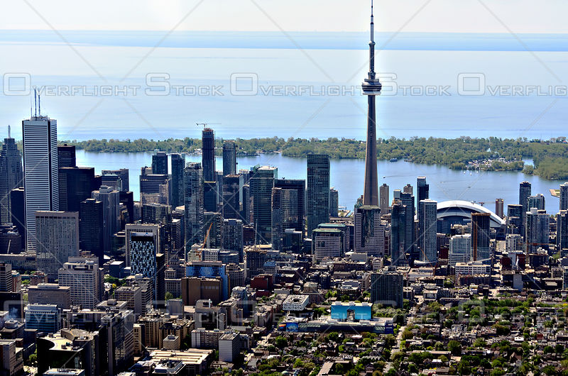 Downtown Core of the City of Toronto with the CN Tower and Toronto Island
