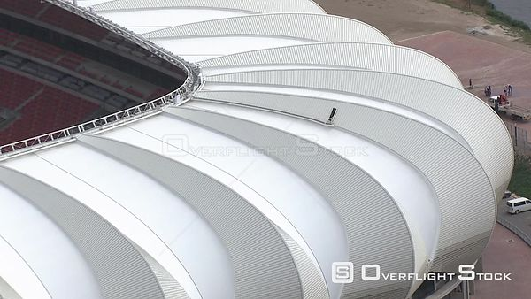 Aerial shot of The Nelson Mandela Stadium in Port Elizabeth Nelson Mandela Stadium Port Elizabeth Eastern Cape South Africa