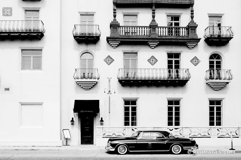 CASA MONICA OLD HOTEL ST AUGUSTINE FLORIDA BLACK AND WHITE