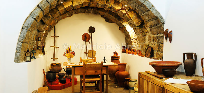 Traditional kitchen in Nordeste museum. Sao Miguel, Azores islands