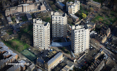 Cotton Garden Estate  Kennington Lane Lambeth, London aerial photograph