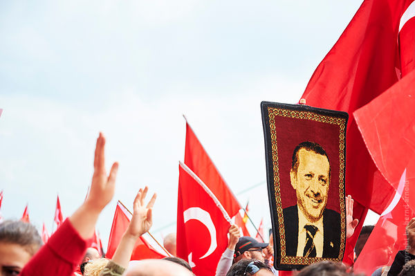 Demonstration Pro Erdogan - Protester rally