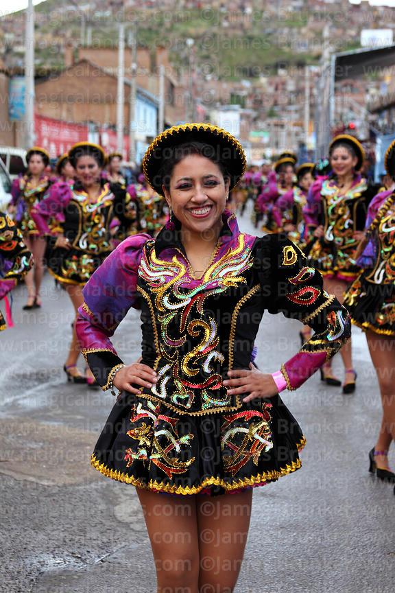 7a93830281 Caporales dancers at Virgen de la Candelaria festival