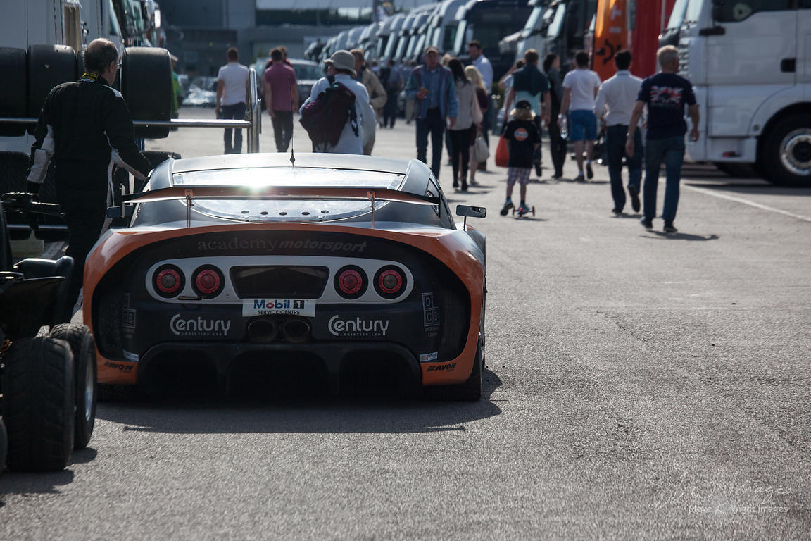 Academy Motorsport Ginetta. In the pit lane and behind the scenes at the Silverstone 500 - the third round of the 2014 Avon T...