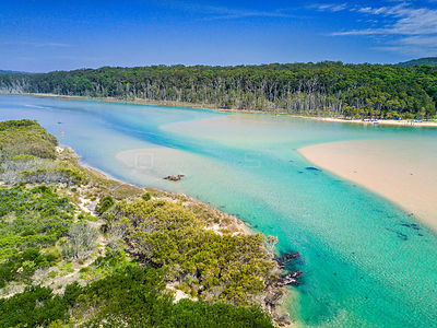 Inlet to Durras Lake, Australia on a beautiful summer day