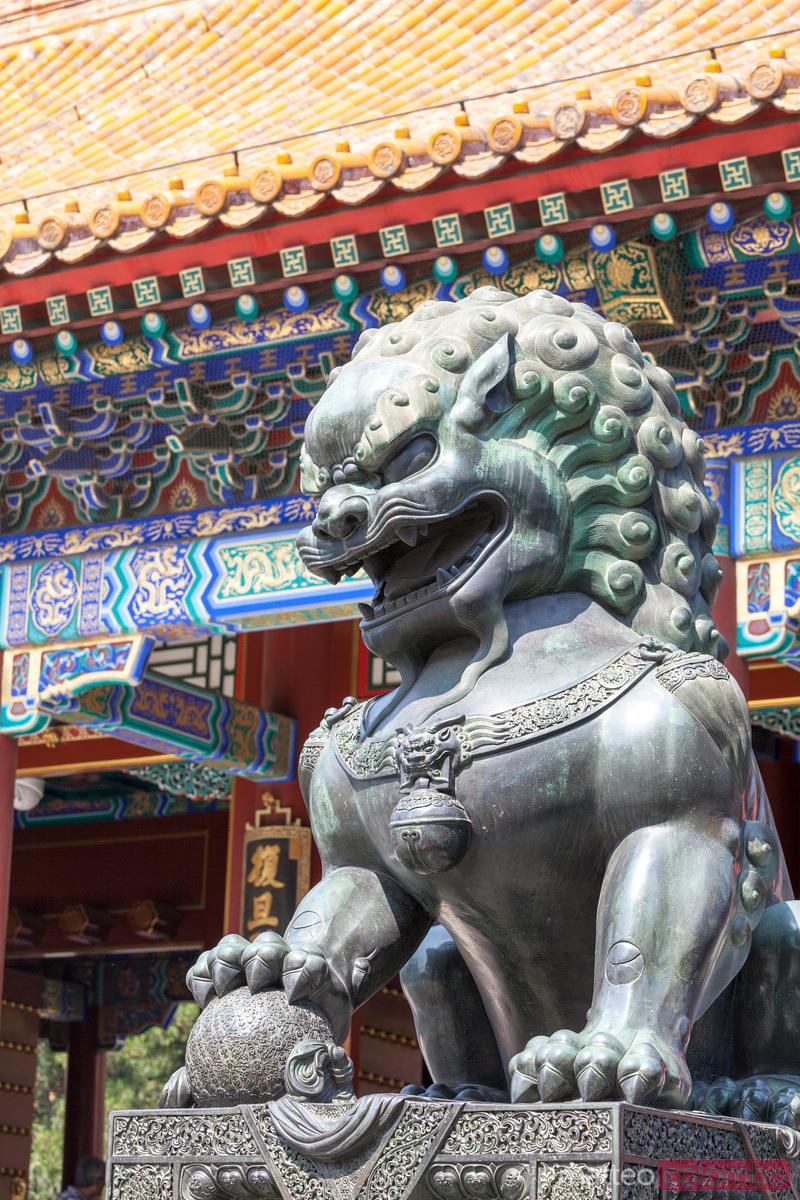 Lion statue in the summer palace, Beijing, China