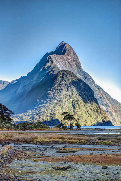 Mitre Peak at low tide