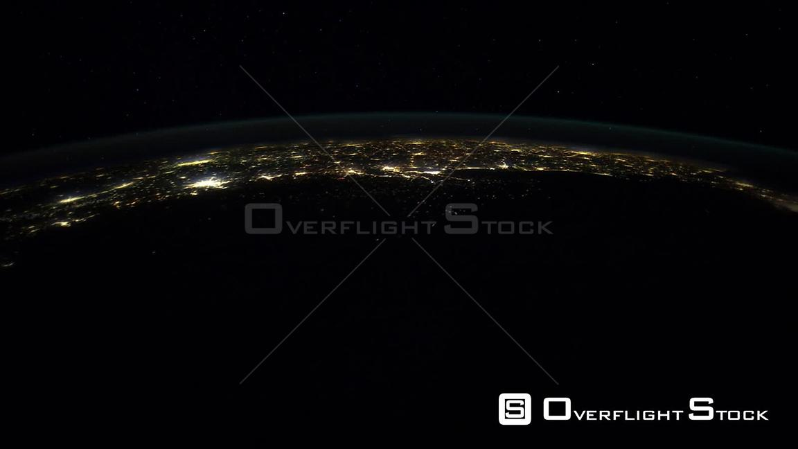Time-Lapse from ISS over  USA E Coast Exp30 29 Jan 2012