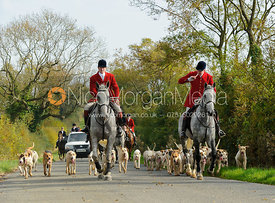 The field follows the Cottesmore hounds - The Cottesmore at Langham.