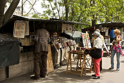 Open Air Bookseller alongside the River Seine