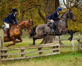 Jumping a fence near The Kennels.