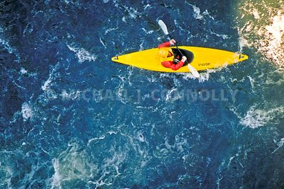 Yellow Kayak On The Yough River