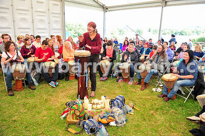 23rd August, 2014.Pictured at the Hill of Tara is music facilitator John Bowker who led an estimated  200 drummers in drum le...
