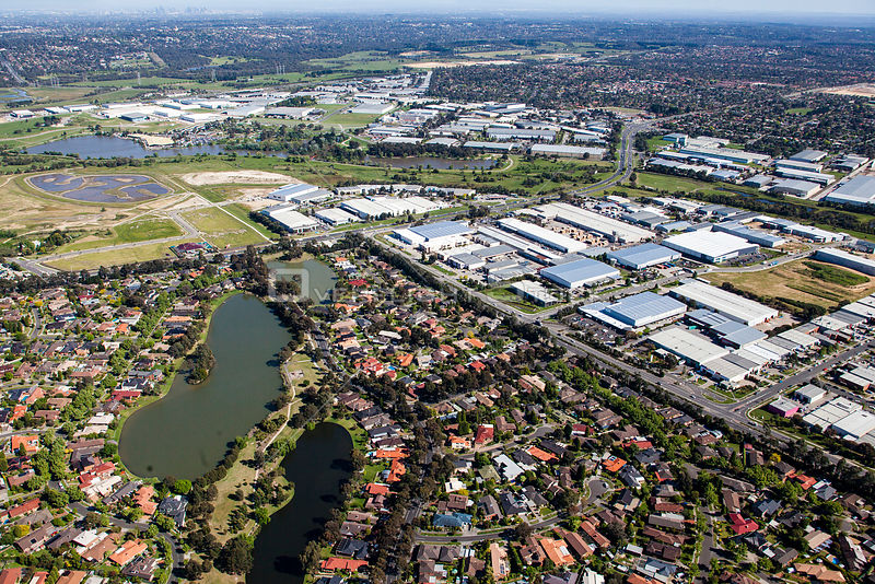 Rowville with a view to CBD. Residential area in view Victoria Australia