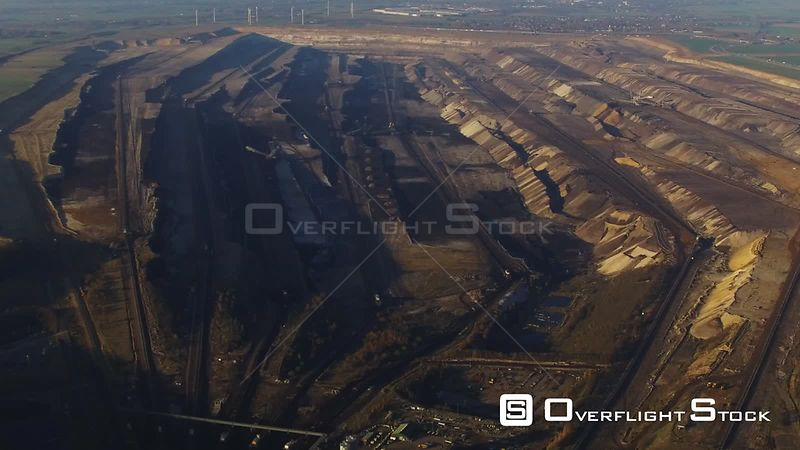 Brown coal - Garzweiler opencast mine in Jüchen in the state of North Rhine-Westphalia, Germany
