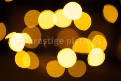 Warm Coloured Fairy Lights Out of Focus