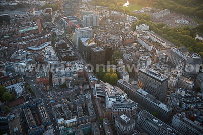 Aerial view of Victoria Street, London
